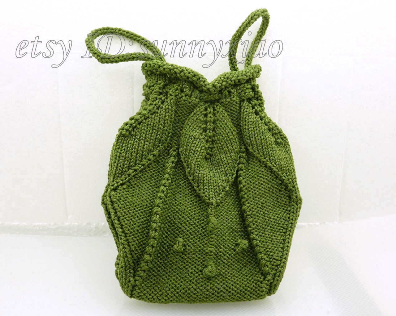 Grass Green Handmade Knitting Needle Bag by sunnyxiao on Etsy