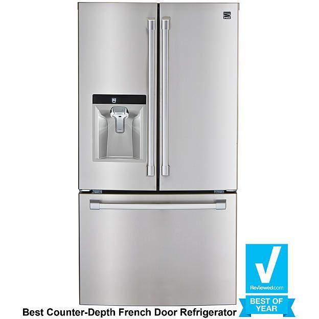 Kenmore Pro 79993 23 7 Cu Ft Counter Depth French Door Refrigerato Counter Depth French Door Refrigerator French Door Refrigerator French Door Bottom Freezer