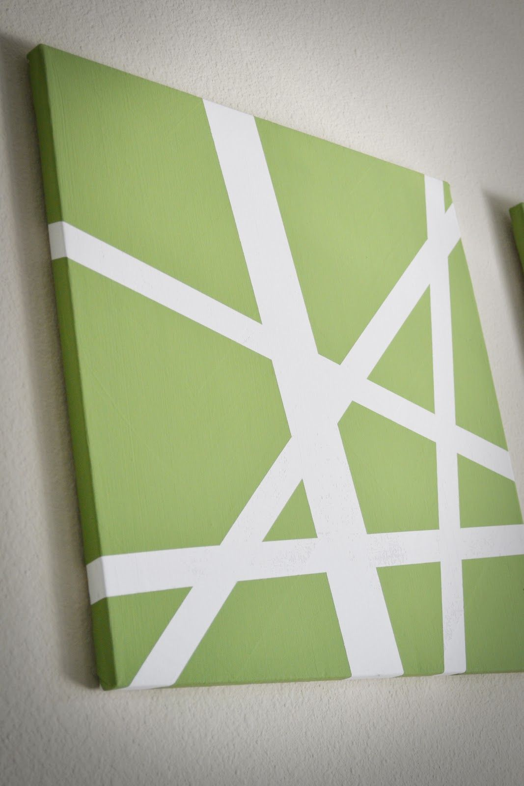 Super Easy Canvas Art Made With Painters Tape And Paint