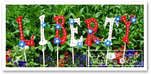 garden craft ideas patriotic yard signs wooden letters outdoor paint found