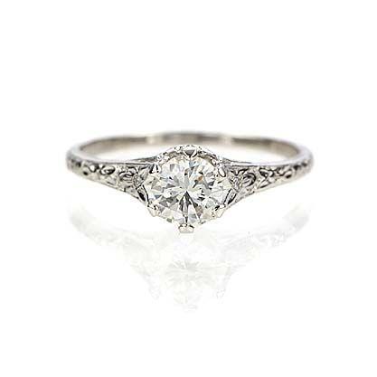 Leigh Jay Nacht Inc Replica Art Nouveau Engagement Ring 3253 03