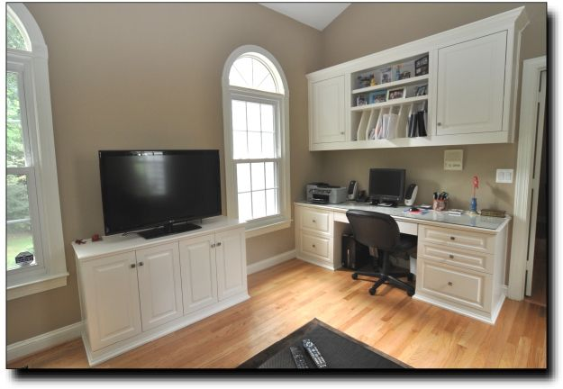 built in home office cabinets. Custom Built Home Office Cabinets In L