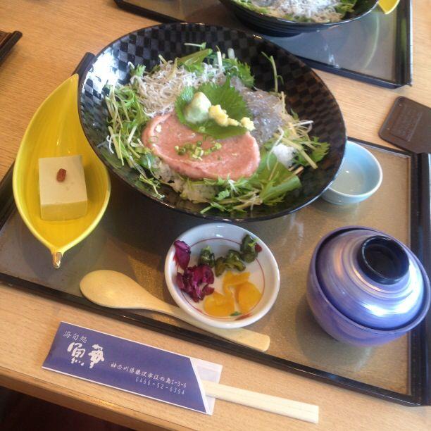江ノ島で食べた魚華丼