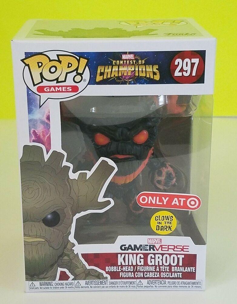 Funko POP Vinyl Marvel Contest of champions King Groot FIGURINE Nº 297