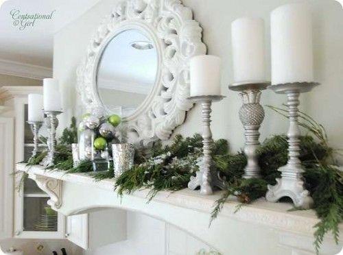 14 DIY Winter Mantel Decorations Christmas Pinterest Mantels
