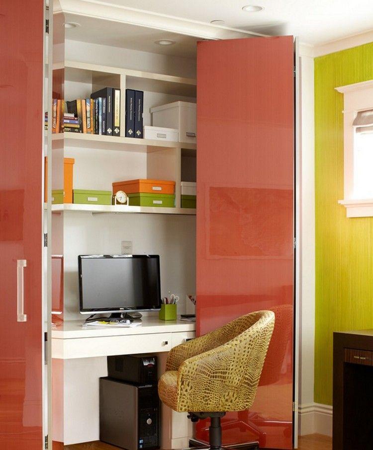 Arbeitsplatz Und Drucker Im Wohnzimmer Verstecken 14 Ideen