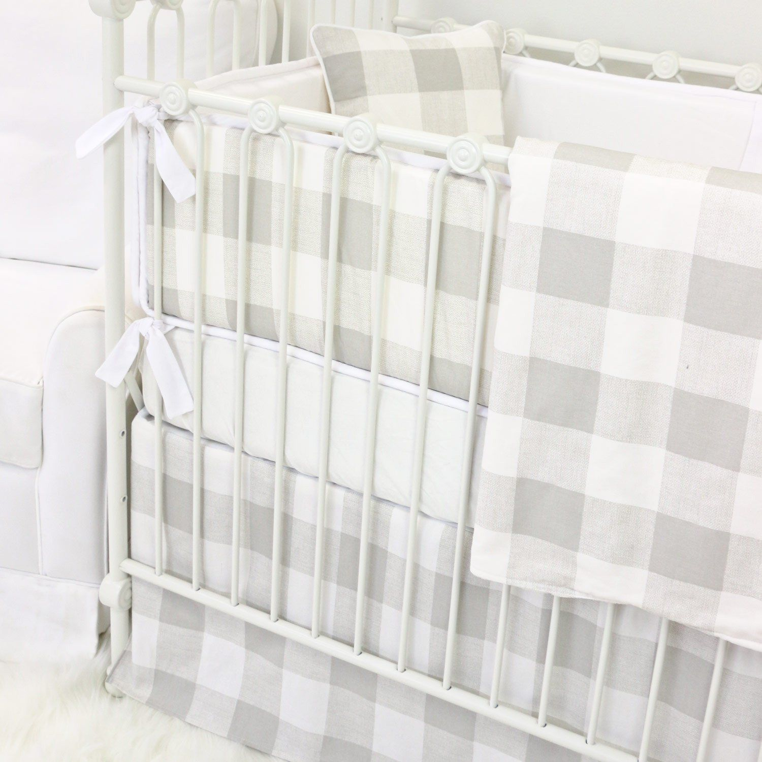 herringbone the houndstooth in pin fabrics bedding plaid and navy gray with world nursery print cribs a crib boyish pinterest like map