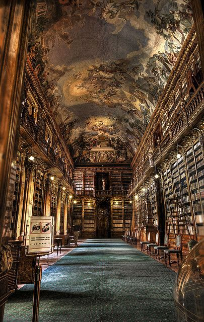 The Philosophical Hall, Library of Strahov Monastery, Prague, Czech Republic