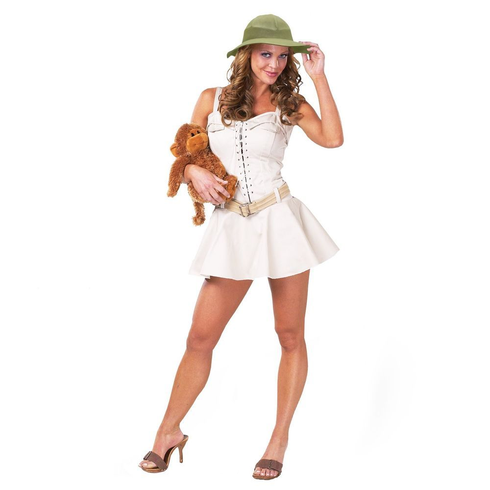 1b9b3f4433 Womens Sexy Safari Costume Zoo Keeper African Australian Theme Crocodile  Hunter  CinemaSecrets  Dress