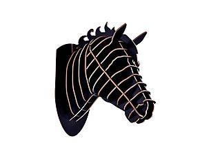 Голова лошади - МДФ - черный - Д40,5xШ19,6xВ35,5