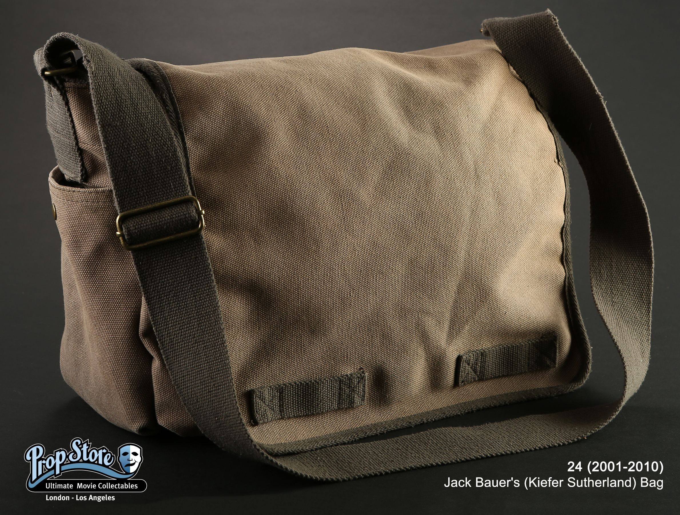 """It's not a purse, it's a """"Jack Sack!"""" For today's #USFeaturedItem we have Jack Bauer's (Kiefer Sutherland) Bag from the TV Series 24! Check it out now here: ow.ly/iiEN306OtZt  #24 #FilmProps #JackBauer #KieferSutherland #FeaturedItem #PropStore"""