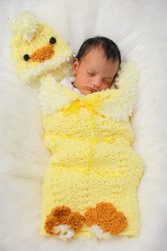 Loom Knit Cocoon For Baby Pattern Pattern Only Includes Baby Chick