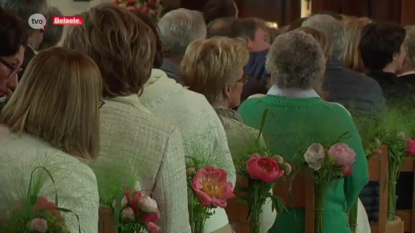 Wedding church pews