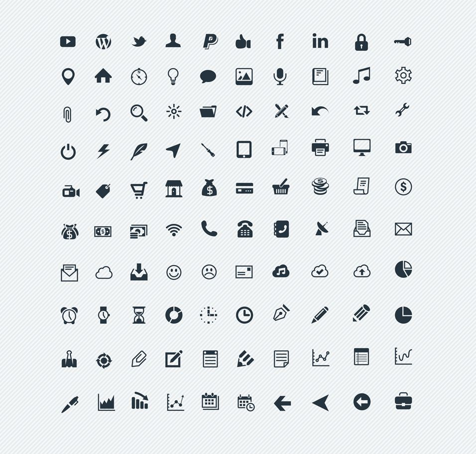 Latest Collection Of Free SVG Icons Piirustus