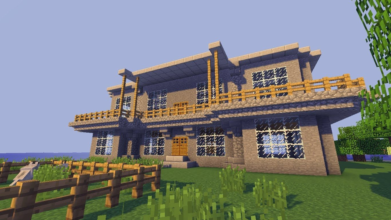 Minecraft Villa bauen TUT | Minecraft building | Pinterest | Tutorials