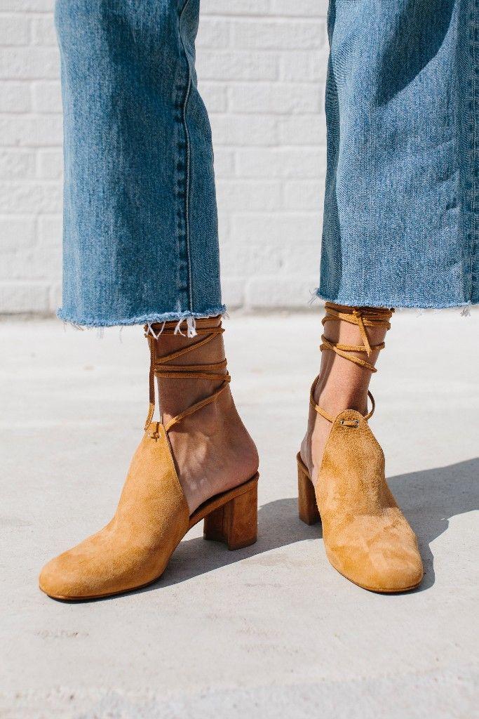 Cropped denim calls for a fun heel!  109db010a667