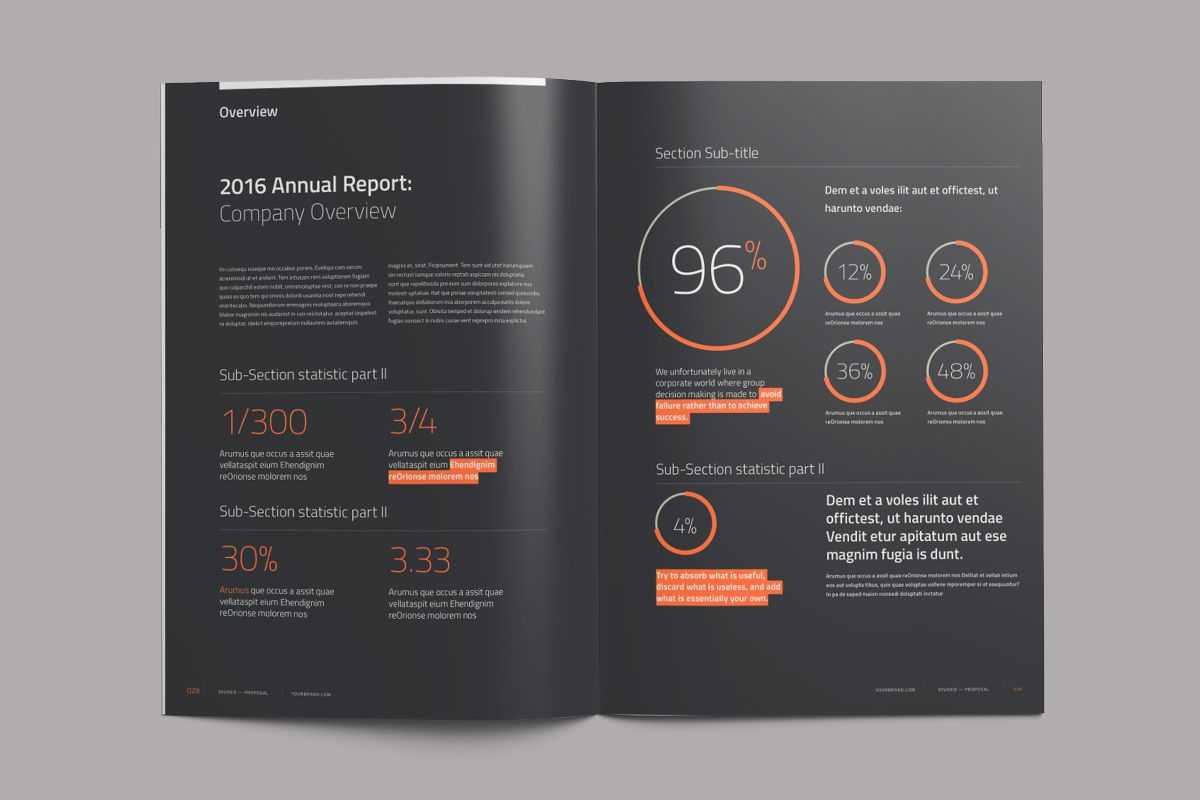 Divided Annual Report on Behance #annualreports