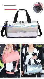 Metallic Pink Outfit Dry Wet Duffle Bags For Women and Men for Fitness Gym Yoga Travel Training  Thi...