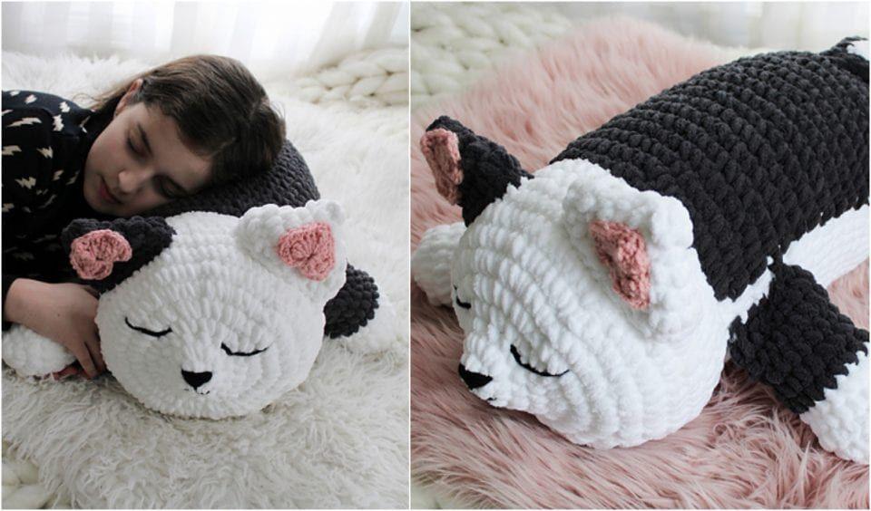 Pet Pillow Free Crochet Patterns