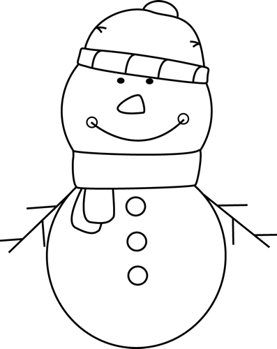 Black And White Snowman Clip Art