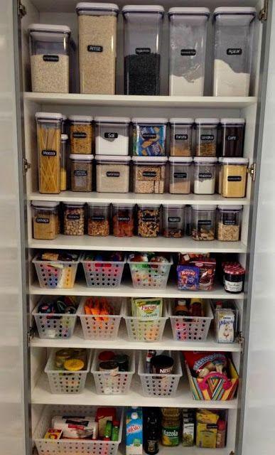Ideas Para Organizar Una Despensa Ideas De Organización De Cocina Despensa Organizada Ideas De Organización Del Hogar