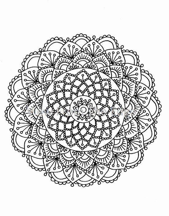Mandala Coloring Page Mehndi Henna Printable PDF by Katie N ...