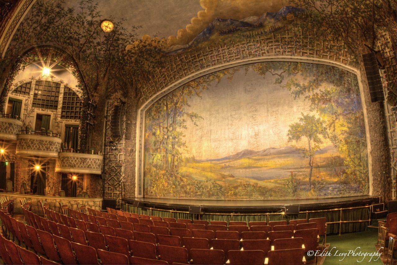 Winter Garden theatre, Toronto, stage, balcony, fire curtain ...