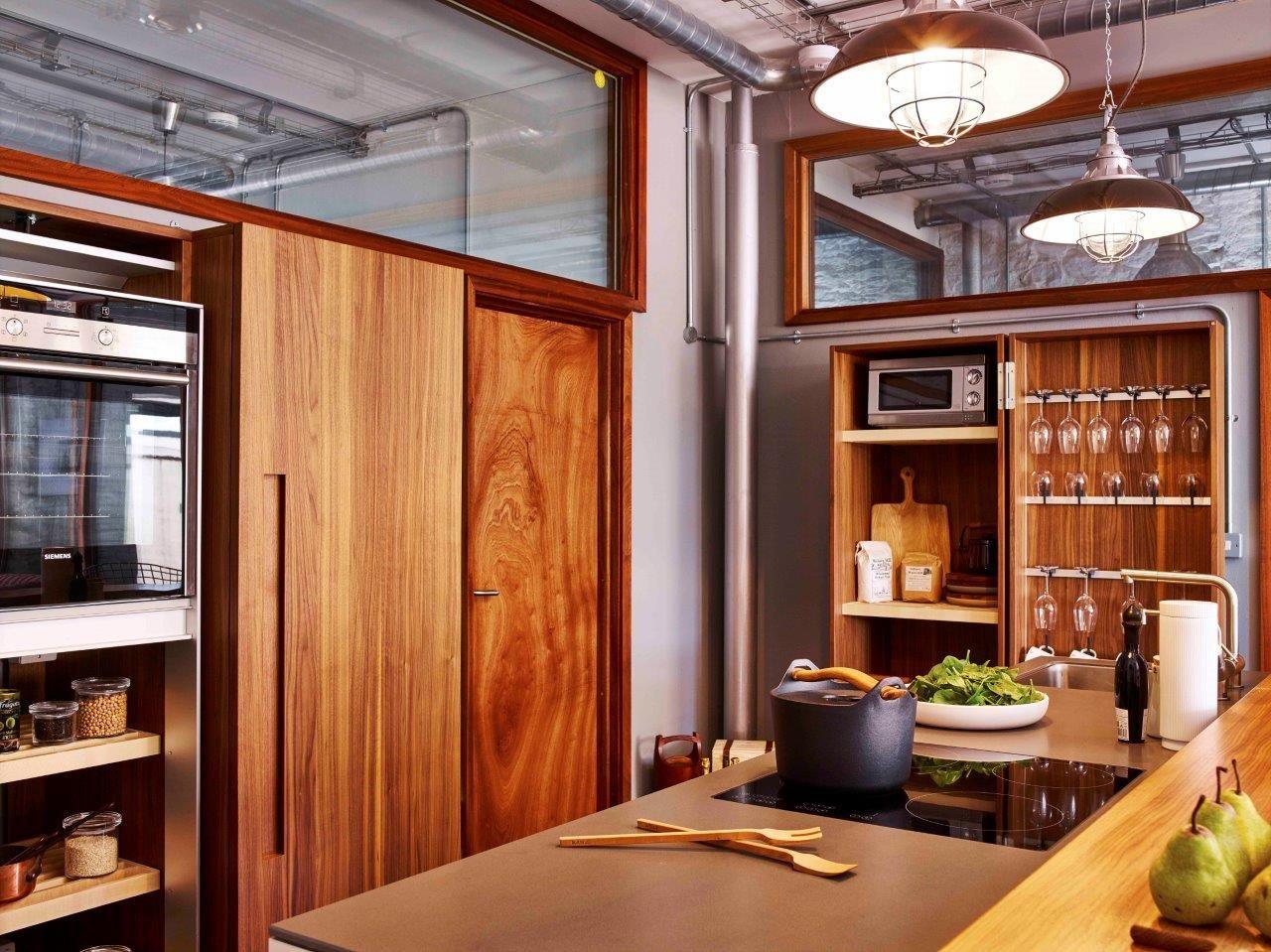 Clever Kitchen Storage Bulthaup B2 Walnut Kitchen Cupboards - Clever Kitchen Designs
