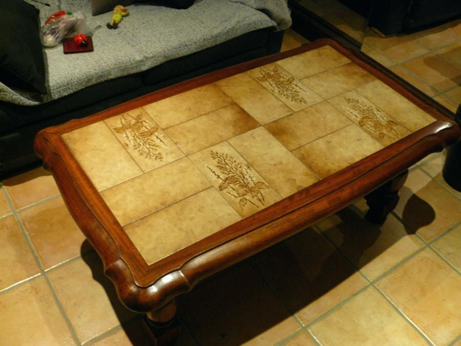 Table Basse Carrelage Table Basse Repeindre Table Basse Customiser Table Basse