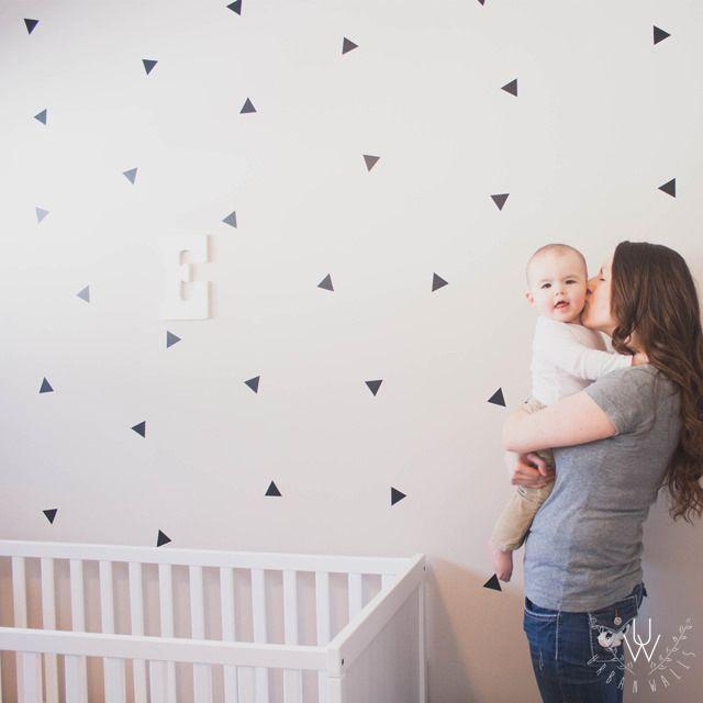 Mini Triangles. Nursery Wall DecalsVinyl ... Part 94
