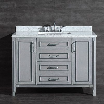 "ove decors daniel 48"" single bathroom vanity set & reviews"