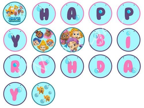 Bubble Guppies Happy Birthday Banner | Bubble guppies | Pinterest ...