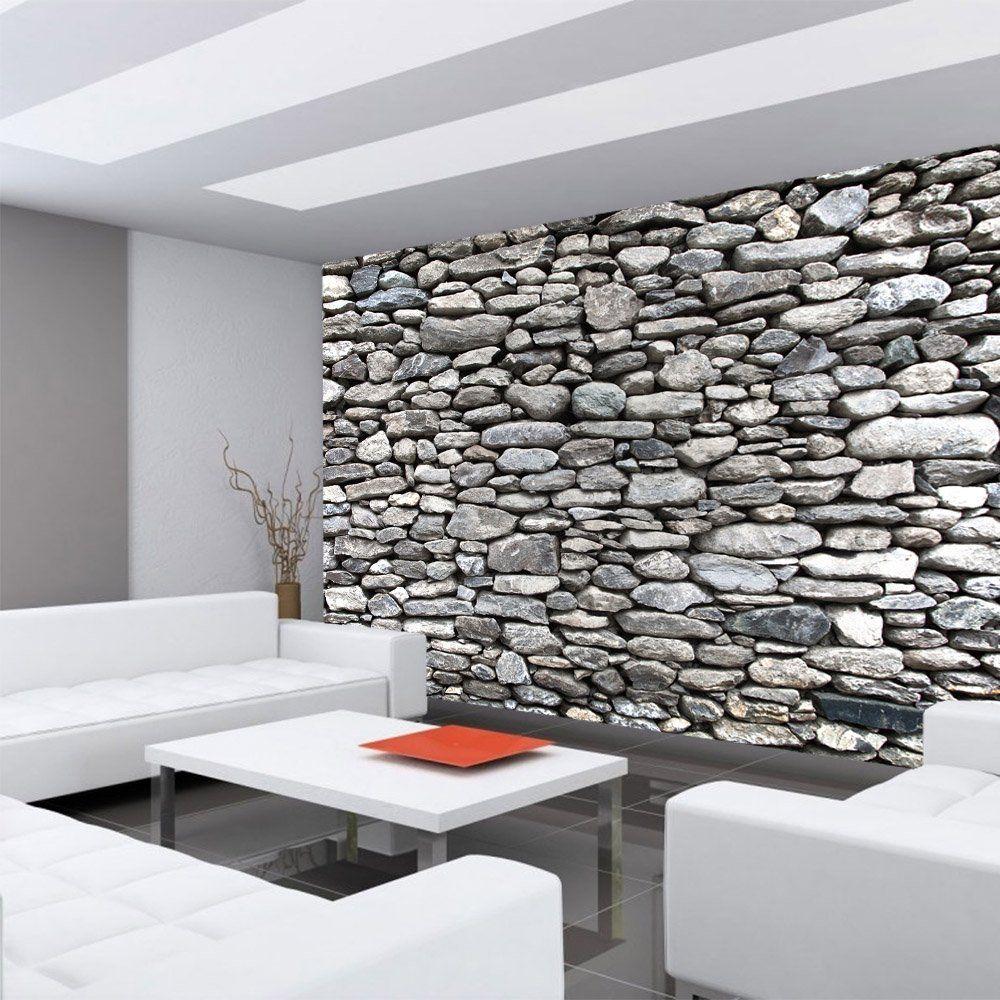 Photo wallpaper stone wall brick wall non woven - Steinwand tapete 3d ...