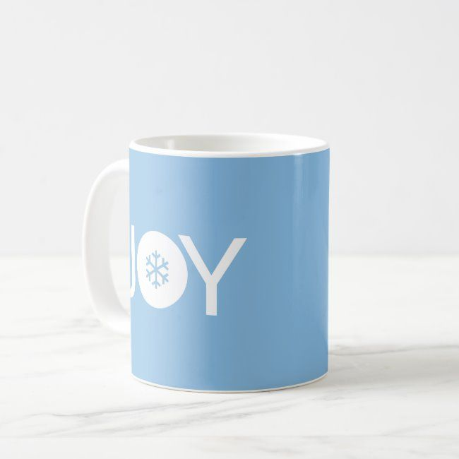 Joy Christmas Blue Coffee Mug
