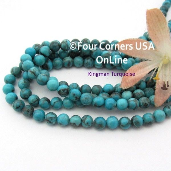 online inch rondelle tq pin beads turquoise strands blue kingman teal usa