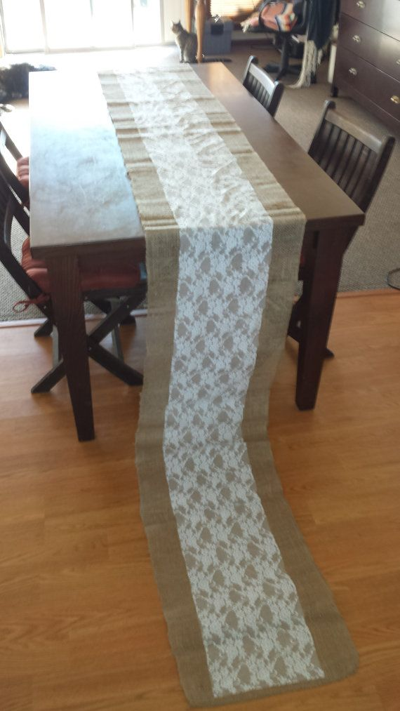 Hey, I found this really awesome Etsy listing at https://www.etsy.com/listing/252391798/handmade-burlap-and-lace-tablerunners