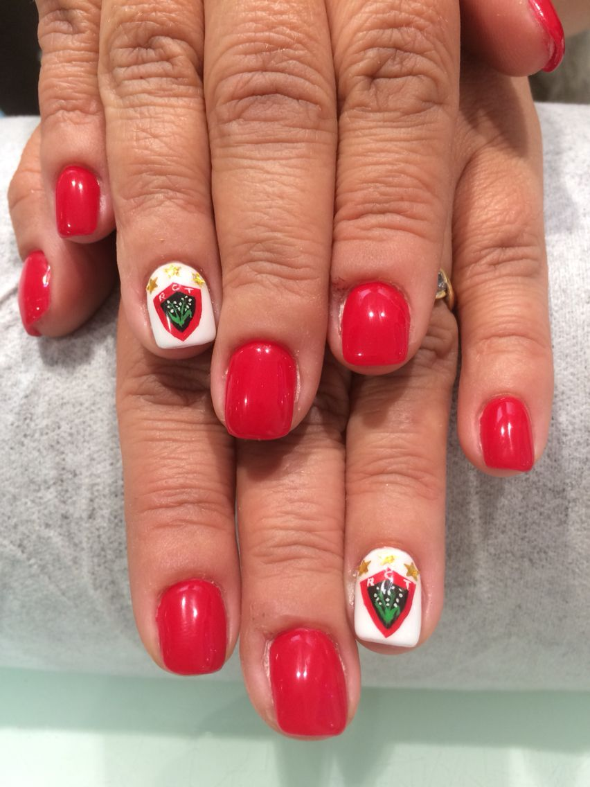 Ongles semi opi. RCT. Triple champion d Europe | Rugby | Pinterest