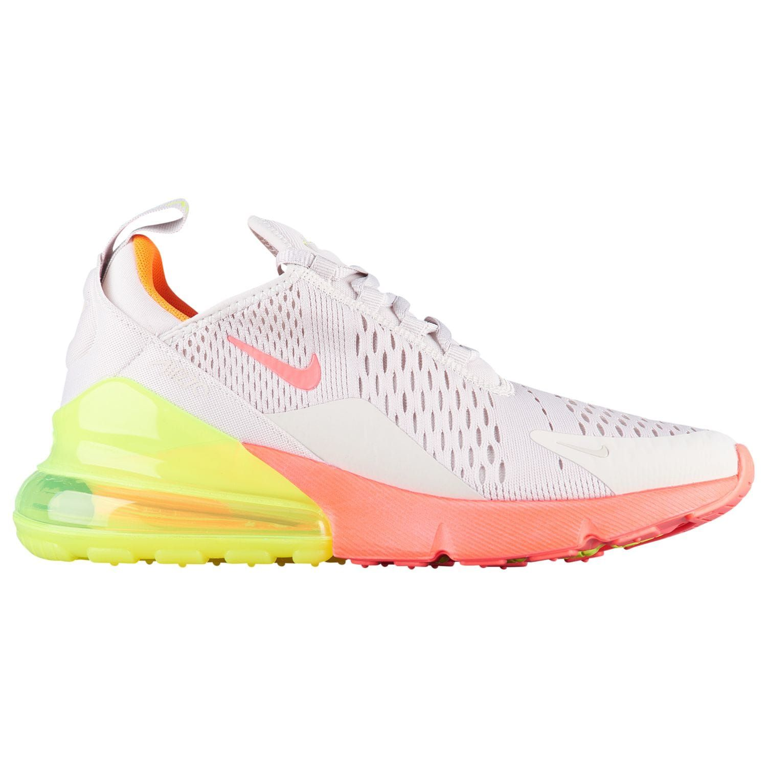 c251eaedf509 Nike Air Max 270 - Women s - Running - Shoes - Desert Sand Hot Punch Volt Total  Orange