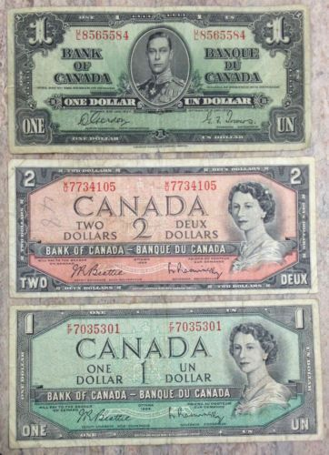 3 Vintage Canadian Notes 1937 And 1954 Nice Circulated No Reserve Ebay Canadian Money Banknotes Money Paper Currency