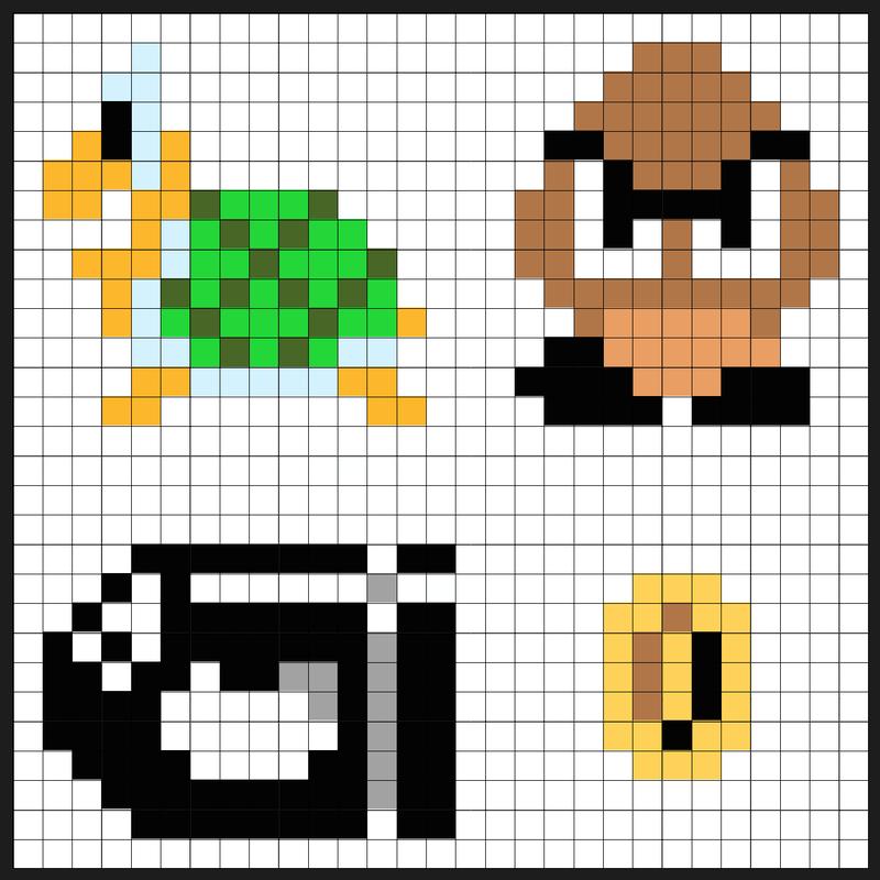 Super Mario Item Block Coin Bank Sprites Kit Perler Bead Project Pixel Art Shop Perler Bead Mario Perler Beads Nerdy Perler Beads