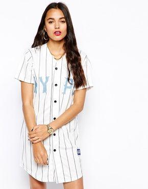 Hype Baseball Button Up T-Shirt Dress   Baseball tee ...