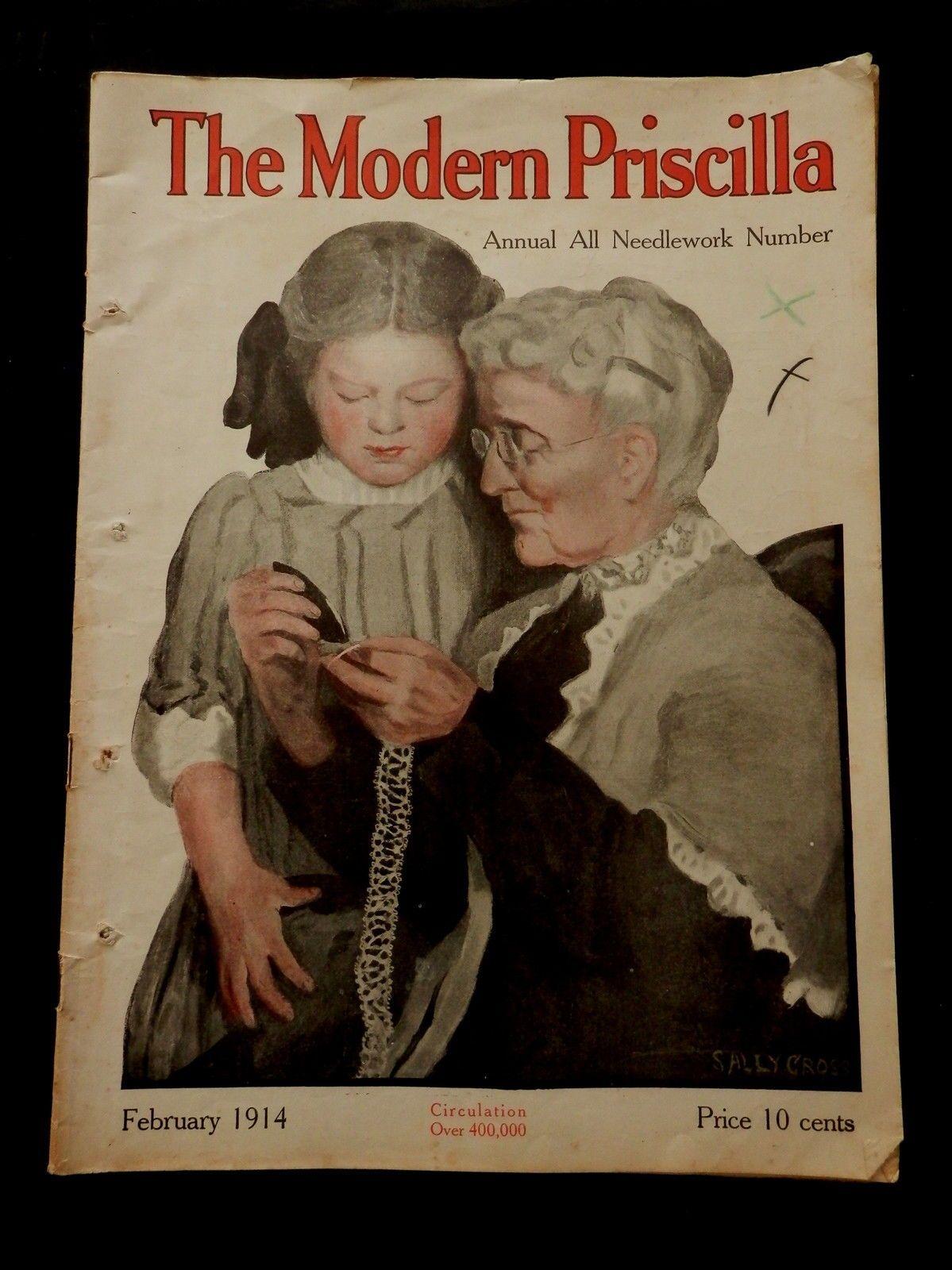 Modern Priscilla Magazine February 1914 All Needlework Number Ebay
