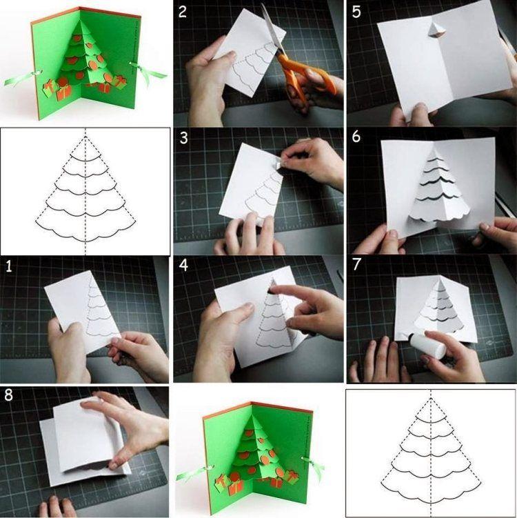 einfache anleitung in bildern f r weihnachtskarte mit 3d. Black Bedroom Furniture Sets. Home Design Ideas