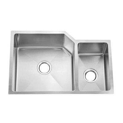 Dax 30 L X 20 W Double Basin Undermount Kitchen Sink With Basket Strainer Sink Apron Sink Kitchen Farmhouse Sink Kitchen