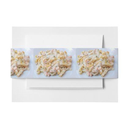 pasta custom food photo invitation belly band create your own