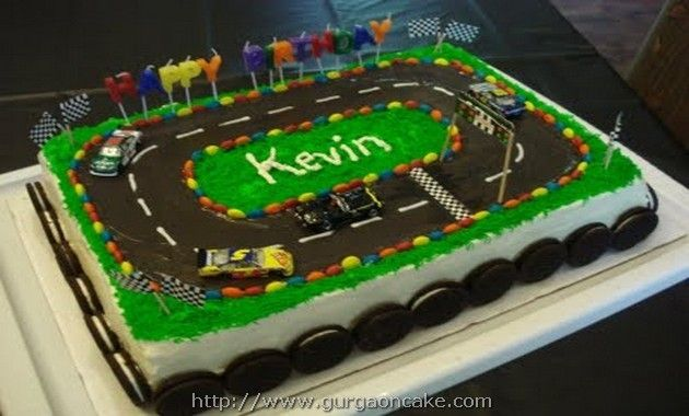 Happy Birthday Kevin Cake Picture Race Car Cakes