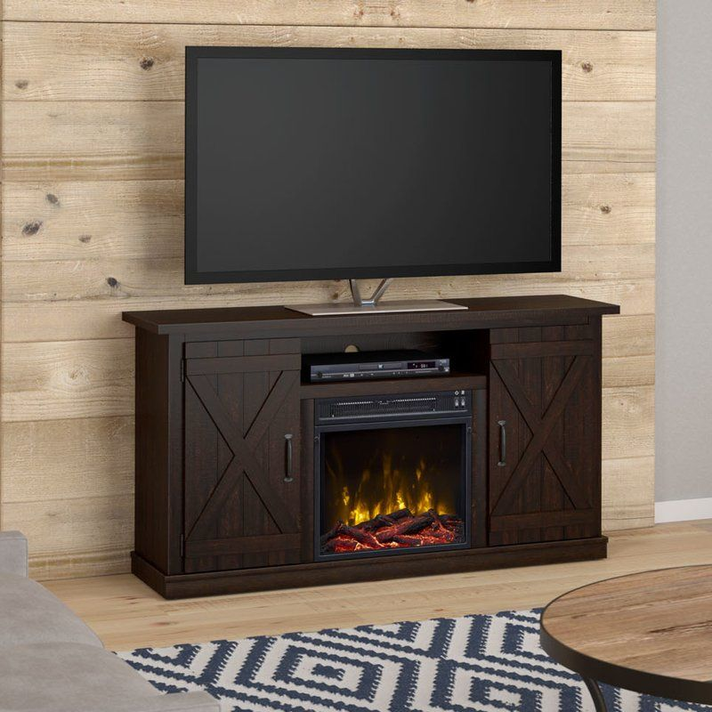 Leisa Tv Stand For Tvs Up To 55 With Electric Fireplace Included
