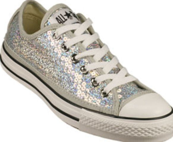 Unique wedding shoes, Sparkly converse