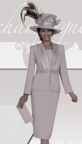 c8044266ac8 Champagne Italy 4117 Blue Grey Mother of Bride Church Dress Suit Size 8 to  26