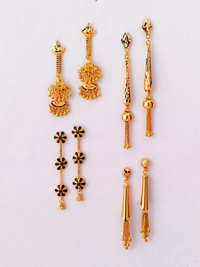 Striking Pairs Of Earrings Only From The Gold Factory A 6 100